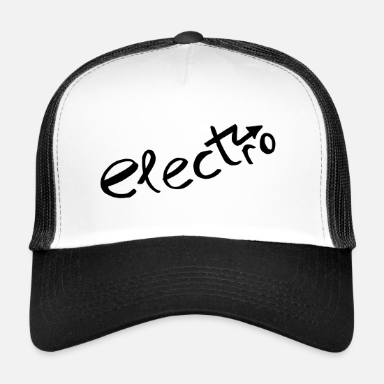 Car Caps & Hats - 157 electro - Trucker Cap white/black