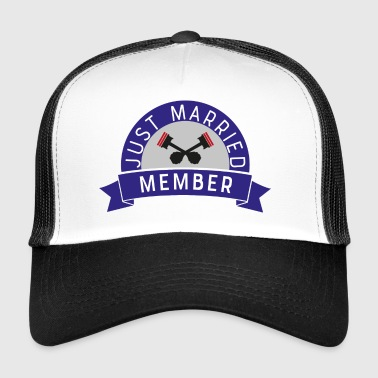 Married Biker just married - Trucker Cap
