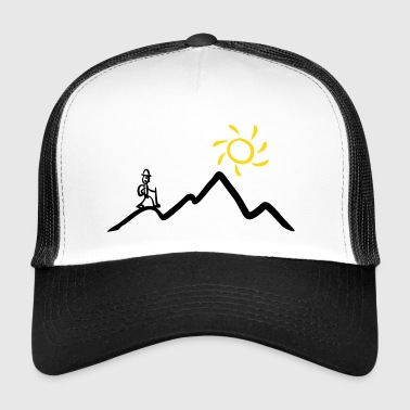 Stickman hiking on the mountains & sunshine - Trucker Cap