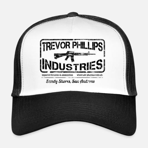 Trevor Philips Industries - Gorra trucker. delante 580a892fafa