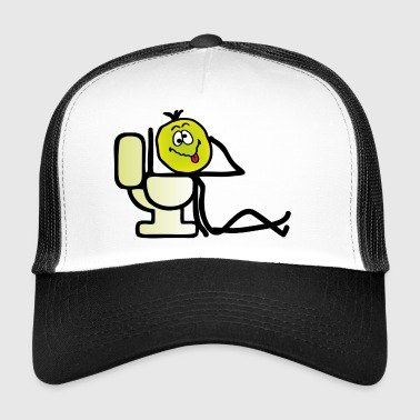 Sick guy in front of toilett - sick emoji - Trucker Cap