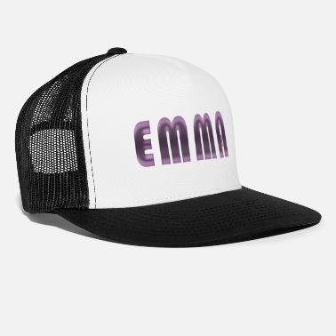 Birth Name Emma name first name name day birth gift idea - Trucker Cap