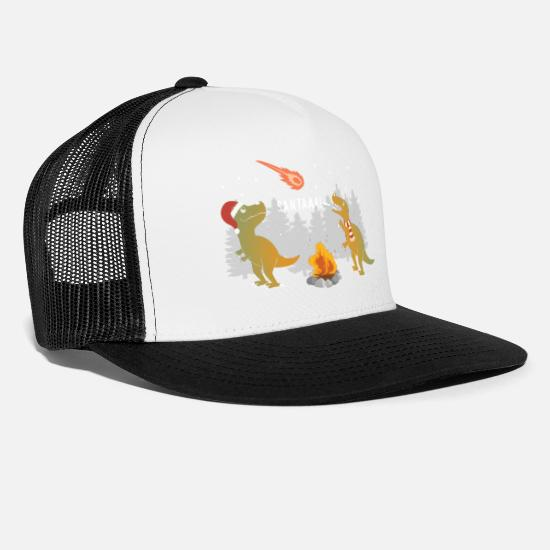 Ugly Christmas Caps & Hats - Merry Extinction - Trucker Cap white/black
