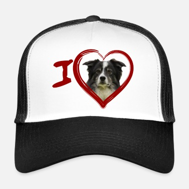 Border Collie Border Collie (Peinture - Peinture) - Trucker Cap
