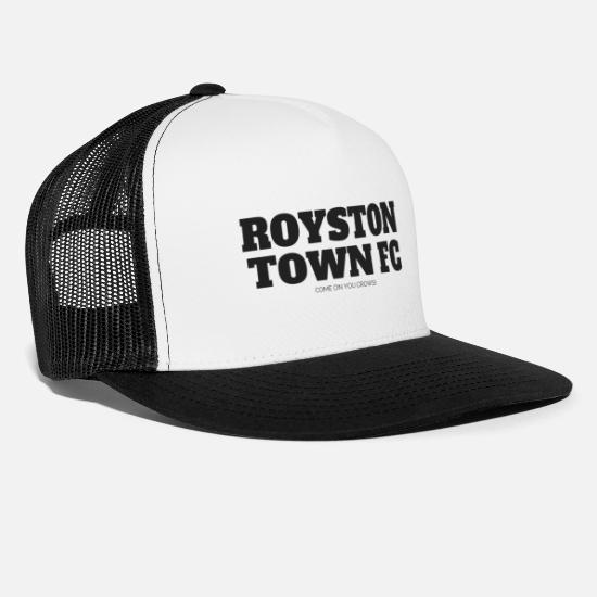 Soccer Caps & Hats - ROYSTON TOWN FC - Trucker Cap white/black