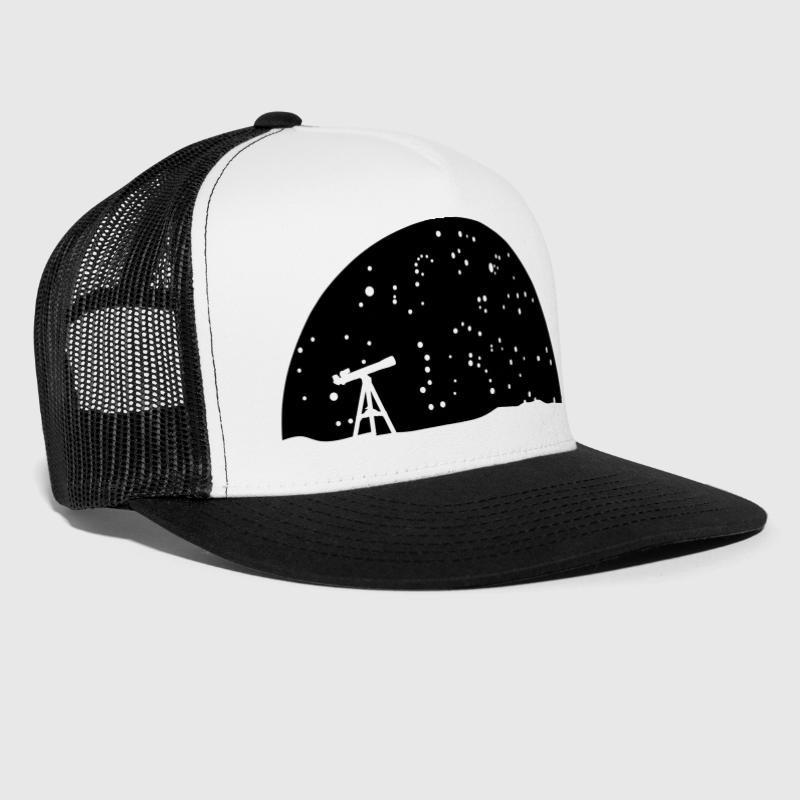 Astronomy, Telescope and stars - Trucker Cap