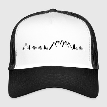Mountain Bike Mountain bike MTB mountains - Trucker Cap