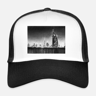 Dubai Dubai Drawing - Trucker Cap
