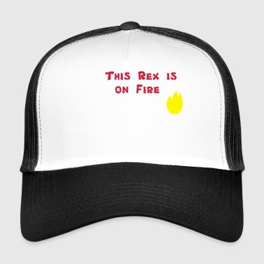 This Rex Is On Fire, płonący T-Rex - Trucker Cap