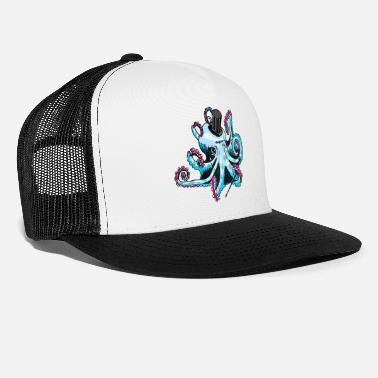gentleman octopus blue - Trucker Cap
