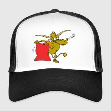 Spain bull bullfight red rage arena - Trucker Cap