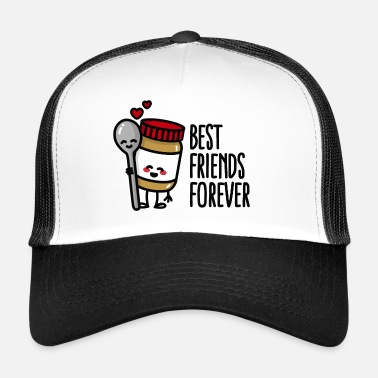 Best friends forever peanut butter / spoon BFF - Trucker Cap