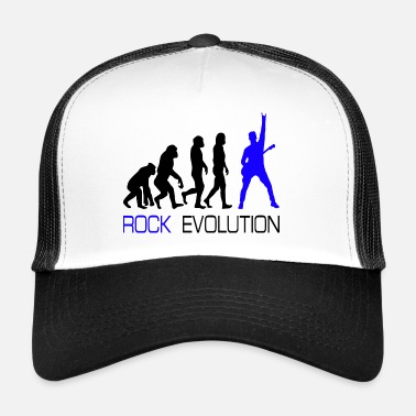 Heavy Rock n Roll Heavy Metal Evolution Geschenk T-Shirt - Trucker Cap