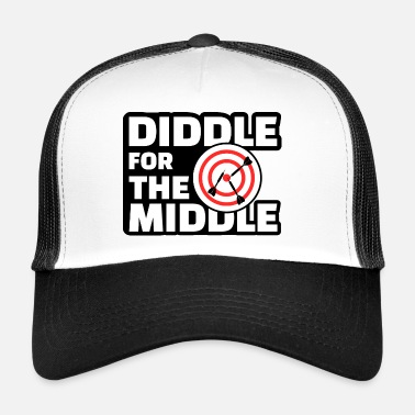 Diddl Diddle for the Middle - Lustiges Dart Shirt - Trucker Cap