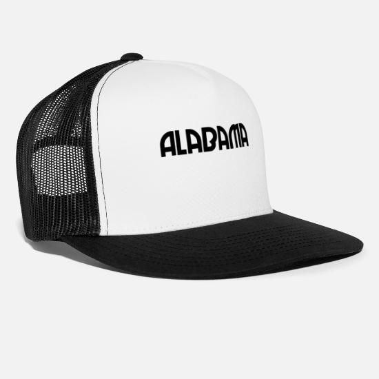 Usa Caps & Hats - Alabama - US State - United States - Montgomery - Trucker Cap white/black