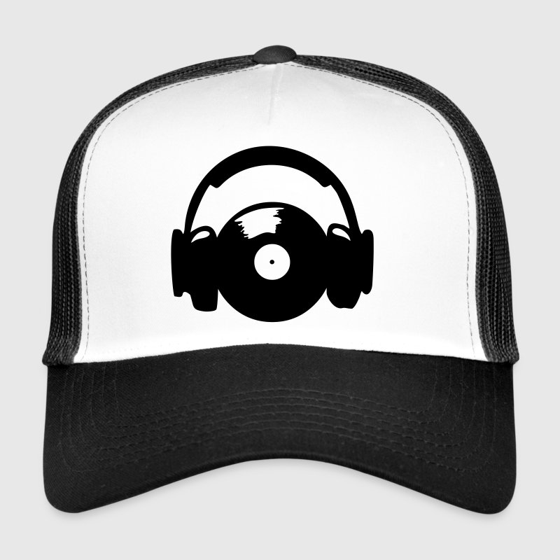 Headphones and vinyl record - Trucker Cap