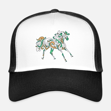 Druid Spirit Horse Spirit of Horses Green Druid shaman - Trucker Cap