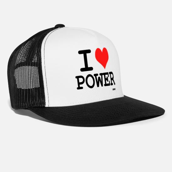 Provocation Caps & Hats - power - Trucker Cap white/black