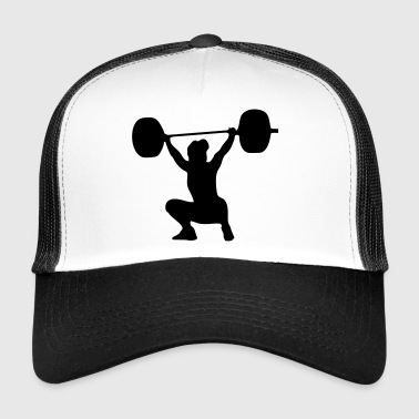 Weightlifting Weightlifter, weightlifting woman - Trucker Cap