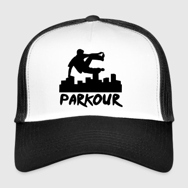 Free running in the city, parkour - Gorra de camionero