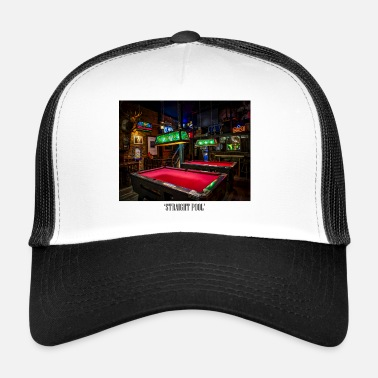 8-ball 8-Ball Straight Pool Billiard Sport Gift - Trucker Cap