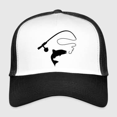 Fish and fishing rod - Gorra de camionero