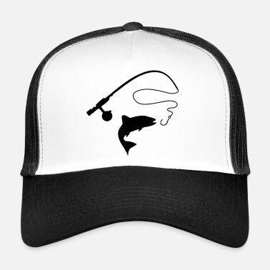 Pescador Fish and fishing rod - Gorra trucker