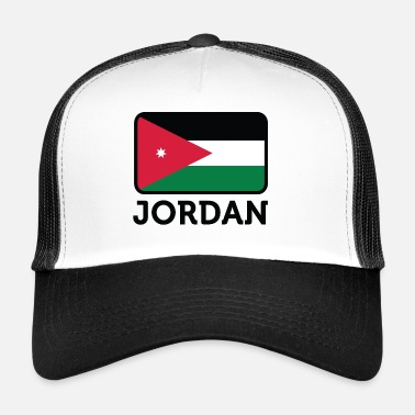 Amman National Flag Of Jordan - Trucker Cap