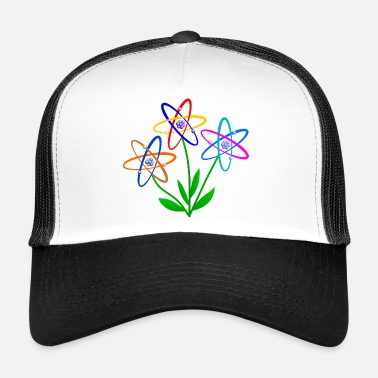 Atomic Energy flower power, atom, atomic nucleus, flowers nuclear energy - Trucker Cap