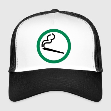 YES KIFFEN SMOKING WEED - Trucker Cap