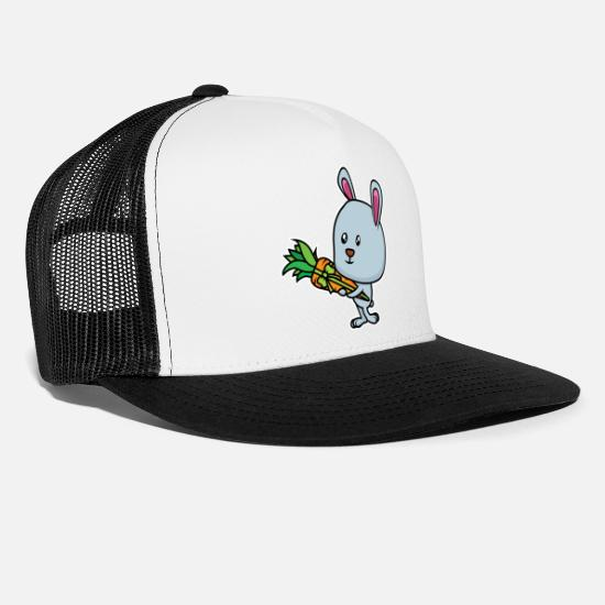 Strong Caps & Hats - Bunny to school - Trucker Cap white/black