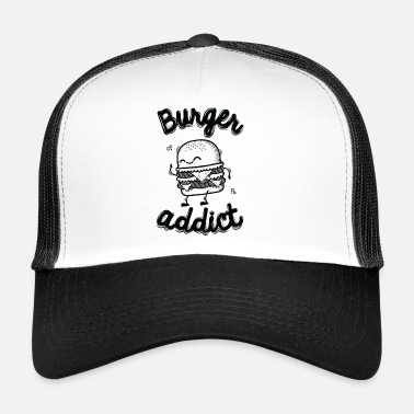 Black And White Collection Burger Addict - Trucker Cap