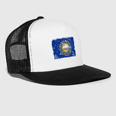 New Hampshire Drapeau Vintage - Trucker Cap