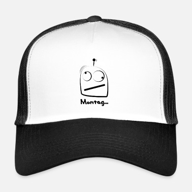 Antenna Funny MontagBot in black. With antenna. - Trucker Cap