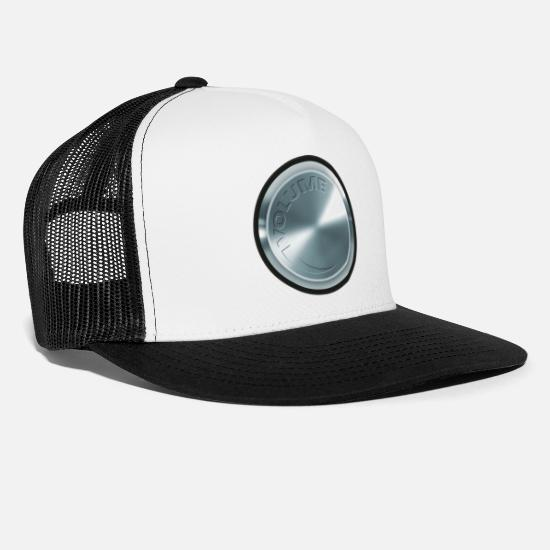 Silver Caps & Hats - Turn up the amplifier fully. - Trucker Cap white/black