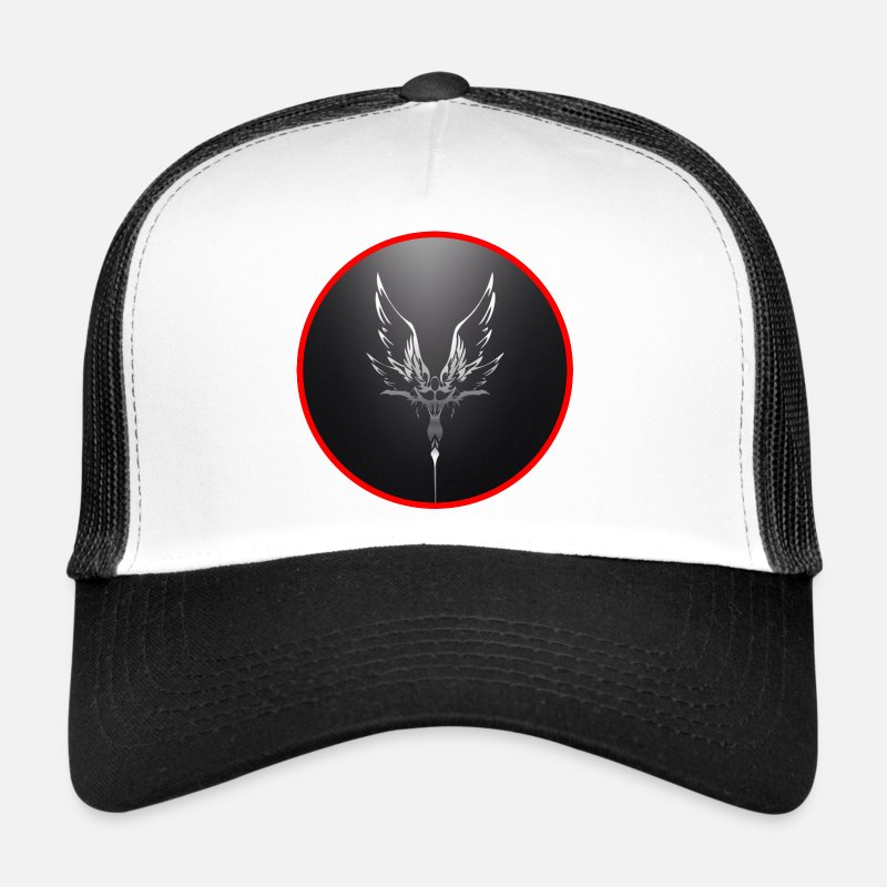 Symbol  Caps & Hats - Angel - Trucker Cap white/black