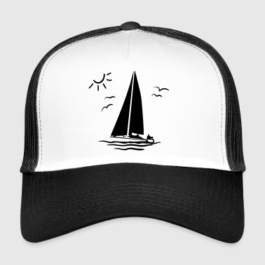 Sailboat, Sailing - Trucker Cap