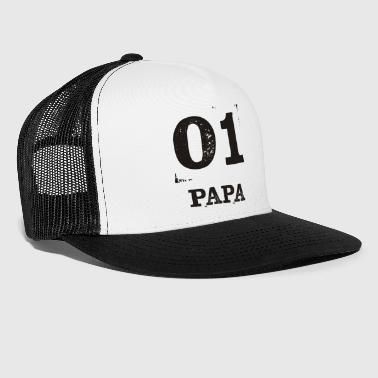 01 PAPA Partnerlook Partnershirt bester Papa - Trucker Cap