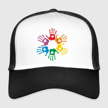 Rainbow hands - Trucker Cap