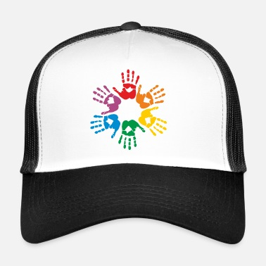 Gej Rainbow hands - Trucker Cap