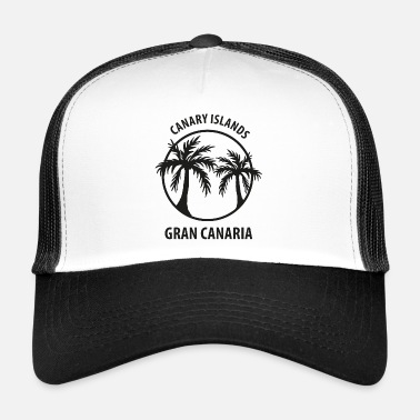 Canary Islands Canary Islands Gran Canaria palm trees - Trucker Cap