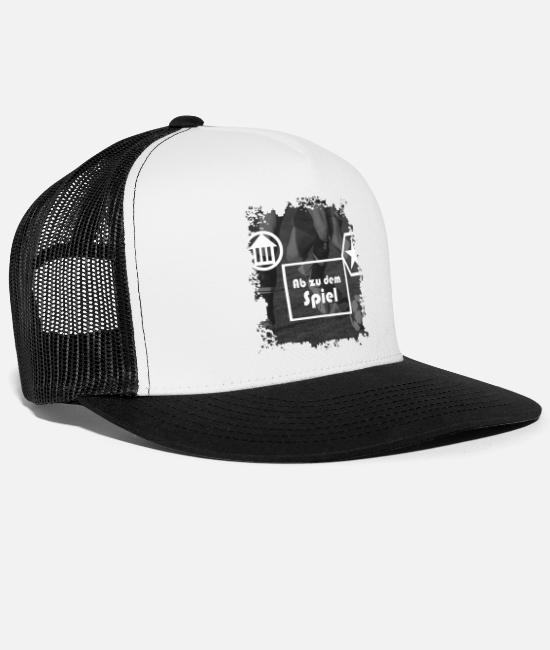 Stadium Caps & Hats - game - Trucker Cap white/black