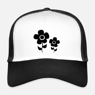 Black Power Black flower-power flowers - Trucker Cap