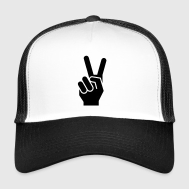 Peace finger sign for peace - Trucker Cap