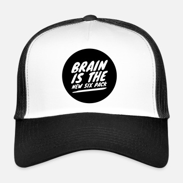 Six Pack Brain is the new six pack - Trucker Cap