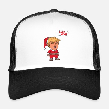 Fake Christmas Trump Santa Claus Fake News - Trucker Cap