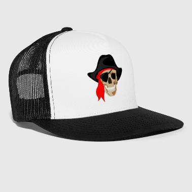 Pirata - Bone Pirate - Teschio - Trucker Cap