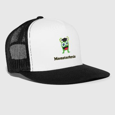 Monster Brain groene Glubschaugen Graduation Gift - Trucker Cap