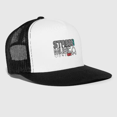 Turn off stress - turn on music - Trucker Cap