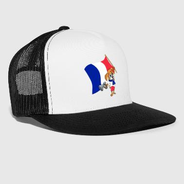 France fan chien - Trucker Cap